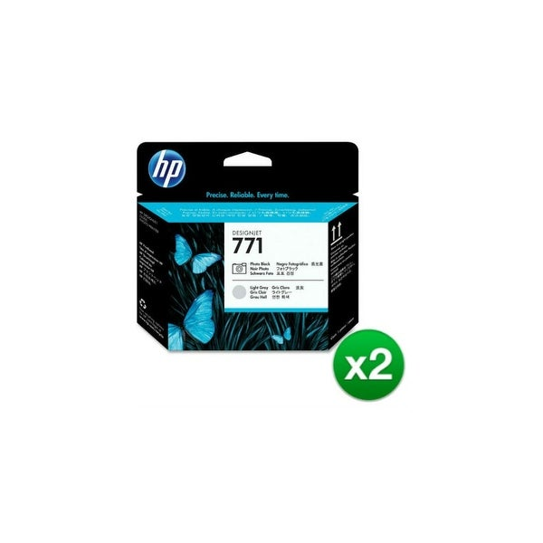 HP 771 Original Printhead Black & Light Gray (CE020A)(2-Pack)