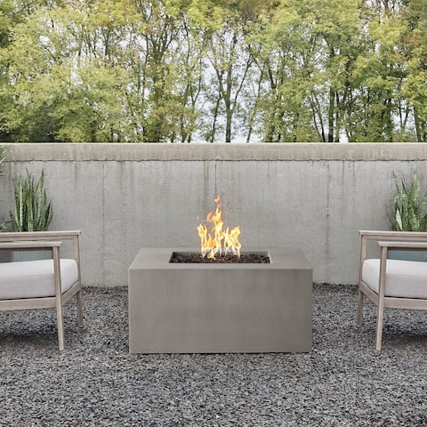 Provo Casual Square Natural Gas Fire Table in Flint by Jensen Co - 40 x 40 x 19