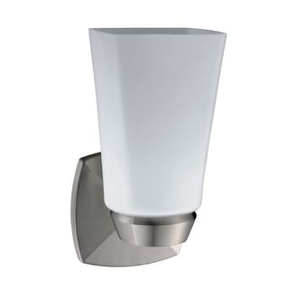 Gatco 1691 Jewel Single Light Bathroom Wall Sconce - satin nickel