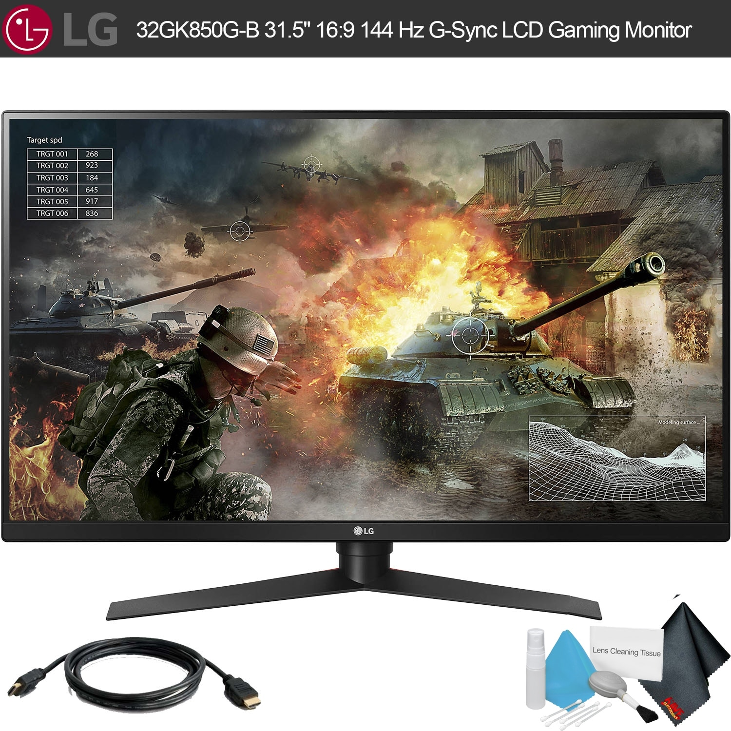 "LG 31.5"""" 16:9 144 Hz G-Sync LCD Gaming Monitor With Kit (1 Pack)"