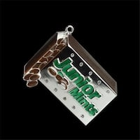 Silver Plated Junior Mints Candy Bar Logo Christmas Ornament with