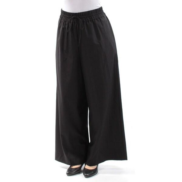 ANNE KLEIN Womens Black Tie Pants Size: 6