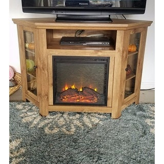 Shop 48 Corner Fireplace Tv Stand Console Barnwood 48 X 20 X