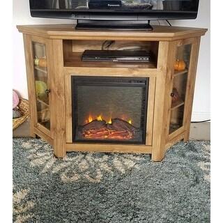 Barnwood 48-inch Corner Fireplace TV Stand