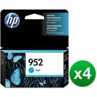 HP 952 Cyan Original Ink Cartridge (L0S49AN)(4-Pack)