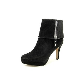 Adrienne Vittadini Women's Poppers Heeled Ankle Boots