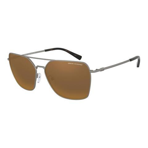 Armani Exchange AX2029S 60886R 60 Matte Gunmetal Man Irregular Sunglasses