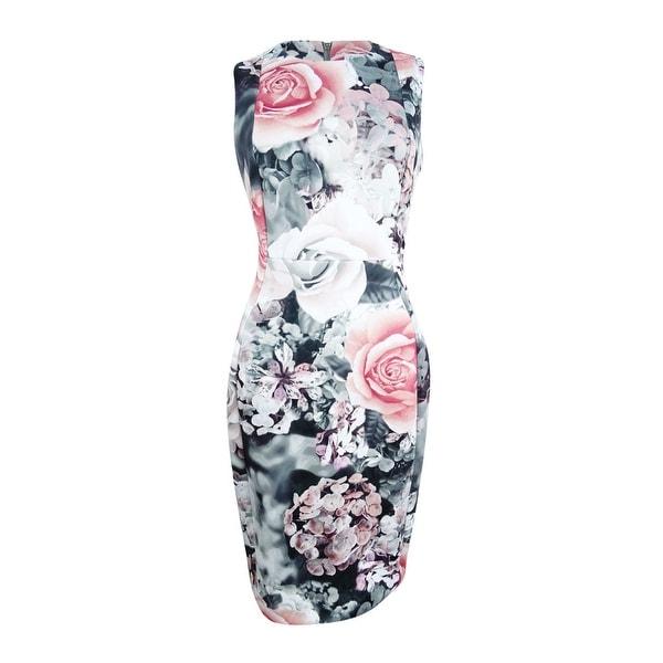 52277ec828 Shop Calvin Klein Women s Floral-Print Scuba Sheath Dress - Free Shipping  Today - Overstock - 23553575