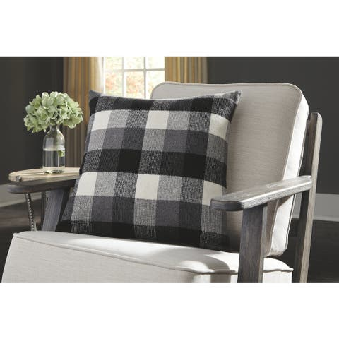 Carrigan White Plaid Throw Pillow