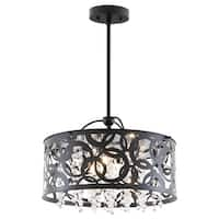 DVI Lighting DVP14704 Woodstock 3-Light Drum Pendant - n/a