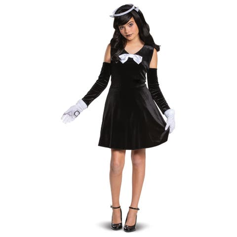 Girls Alice Angel Bendy and the Ink Machine Costume - Medium (size 7-8)