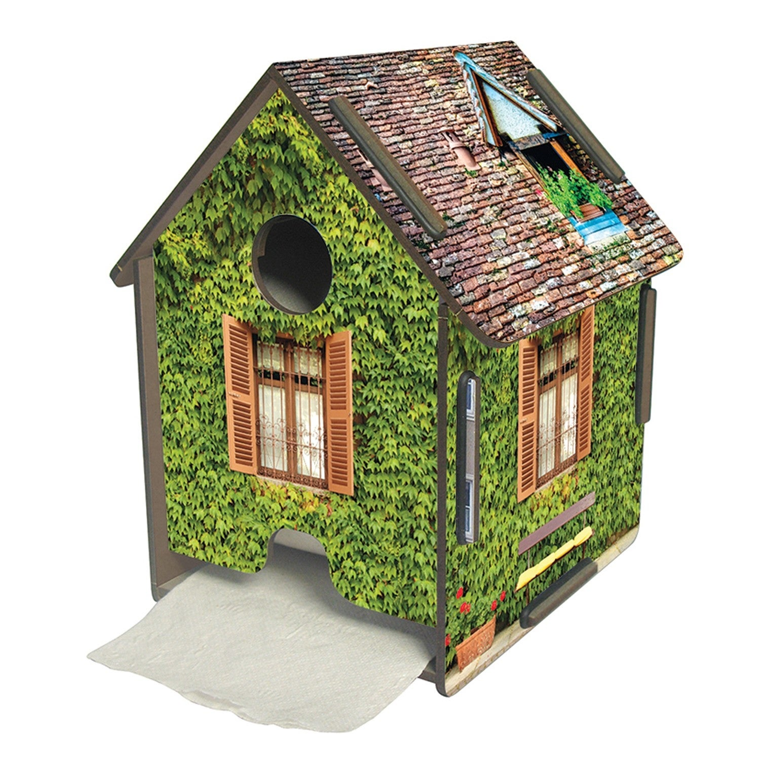 Shop Werkhaus Design Produktions Gmbh Ivy Toilet Paper House Wooden Novelty Bathroom Accessory 7 X 5 75 Overstock 28519850
