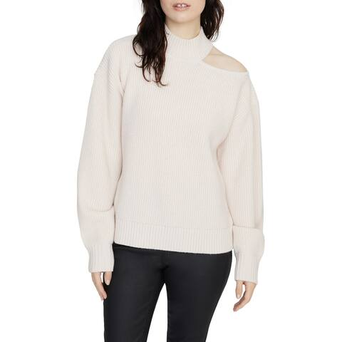 SANCTUARY Womens Pink Cut Out Long Sleeve Turtle Neck Sweater Size S