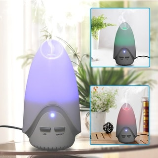 USB Aroma Diffuser Ultrasonic Humidifier Aromatherapy Purifier 7 Color LED Light - White