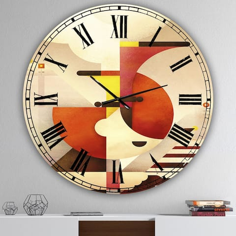 Designart 'All That Jazz' Large Mid-Century Wall Clock