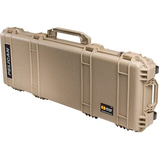 Pelican 1720-000-190 pelican 1720 protector carbine case w/ wheels 3 pc foam tan - Desert Tan