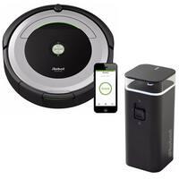 iRobot Roomba 690 Wi-Fi Robotic Vacuum w/Dual Mode Virtual Wall Barrier Bundle