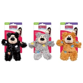 Kong Assorted Softies Patchwork Bear Catnip Cat Toy