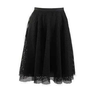 Lucy Paris Womens Mesh Lined A-Line Skirt - S