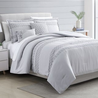 Link to Modern Threads Leah 5 Piece Embroidered Comforter Set Similar Items in Comforter Sets