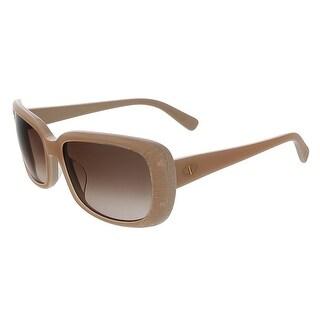 Valentino V619S 290 Nude Classic Rectangular Sunglasses