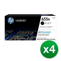 HP 655A Original LaserJet Toner Cartridge - Black (4-Pack) LaserJet Toner Cartridge