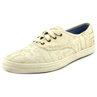 Keds Keys Women Round Toe Canvas Ivory Sneakers