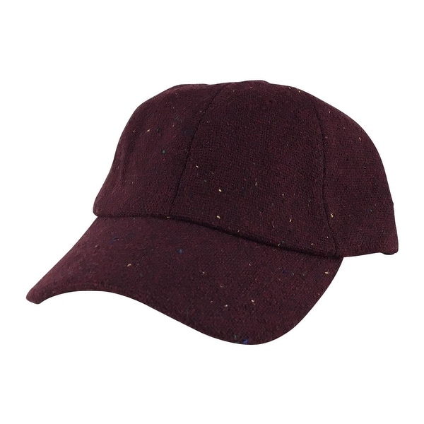 Shop Wool Confetti Sparkle Unstructured Adjustable Strapback Dad Cap Hat  Maroon Wine - Burgundy - Free Shipping On Orders Over  45 - Overstock.com -  ... 7abeed08658f
