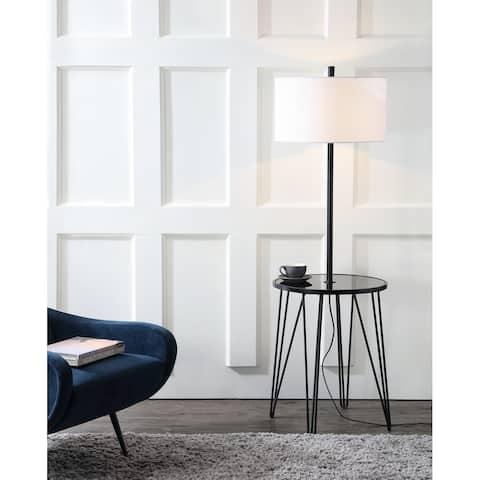 "SAFAVIEH Lighting 58-inch Ciro Side Table Floor Lamp - 19"" x 19"" x 58"""