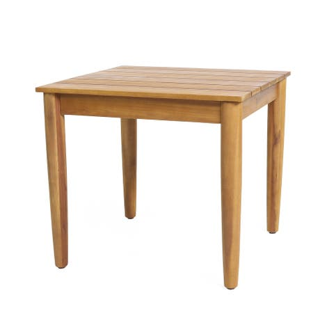 """Magnolia Outdoor Acacia Wood Side Table by Christopher Knight Home - 20.00"""" W x 20.00"""" D x 18.25"""" H"""