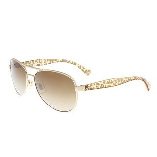 Ralph Lauren RA4108 101/13 Gold Aviator Sunglasses - 59-14-135