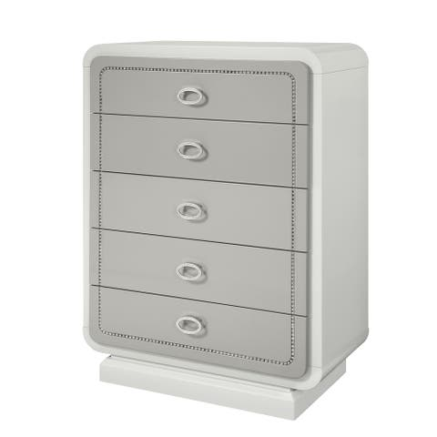 ACME Allendale Chest in Ivory and Latte High Gloss