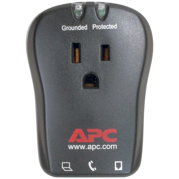 Apc P1T 1-Outlet Travel Surge Protector With Telephone Protection