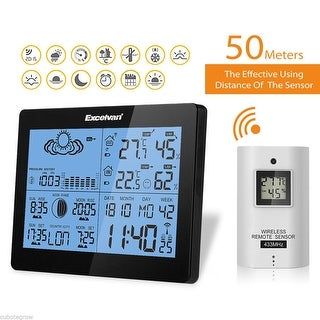 Wireless Dual Alarm Weather Station Temperature Humidity Barometer Forecast Home
