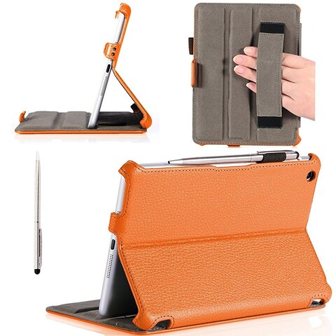 i-Blason-Apple New iPad Mini Retina Display Smart Cover Slim Folio Case-Orange