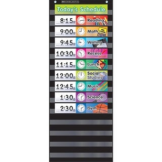 Pocket Chart Daily Schedule Black