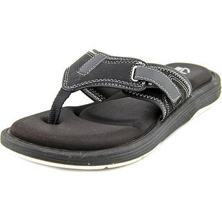 clarks womens black flip flops