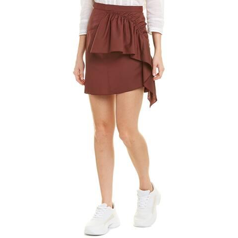 Isabel Marant Ruffled Wool Mini Skirt