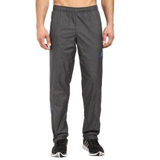 Adidas NEW Gray Men Size Small S Drawstring Logo-Front Windbreaker Pants