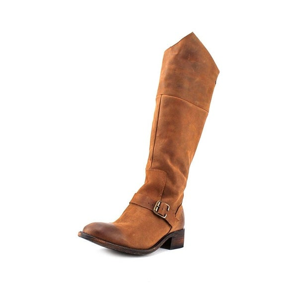 Independent Boot Company Vinson Buckle Women  Leather Brown Knee High Boot
