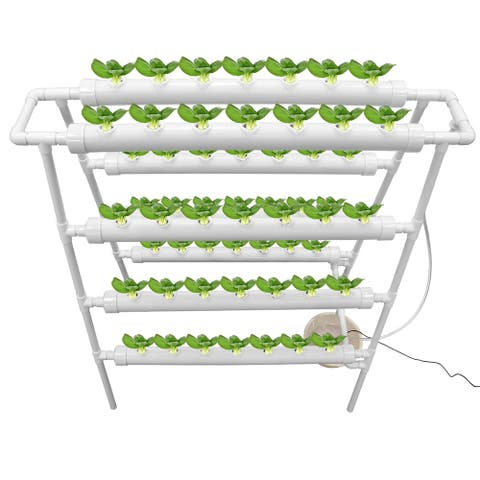 Plant Sites Hydroponic Site Grow Kit Hydroponic Soilless Growing System Water Culture Garden Plant System - 4 Layers Pipe
