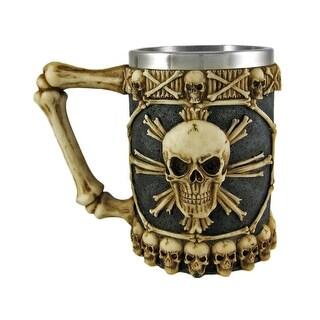 Ossuary Skull Beer Stein Tankard Skulls