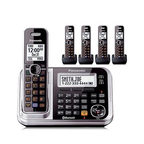 shop panasonic kx tg7875s 5 handset cordless phone w talking caller rh overstock com Panasonic Kx Instruction Manual Panasonic 6.0 Cordless Phone Manual