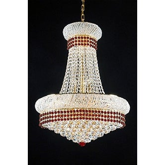 French empire crystal chandelier chandeliers lighting trimmed with french empire crystal chandelier chandeliers lighting trimmed with ruby red crystal free shipping today overstock 21170173 aloadofball Images