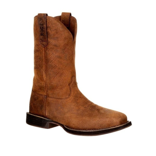 """Rocky Western Boots Mens Renegade 11"""" WP Distressed Brown"""