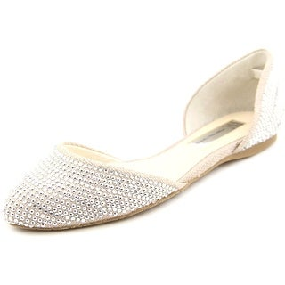 INC International Concepts Crescente 5 Women Round Toe Canvas Nude Flats