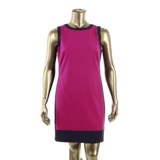 Lauren Ralph Lauren Womens Colorblock Sleeveless Wear to Work Dress