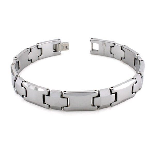 Tungsten Carbide Link Bracelet