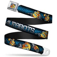 Bumblebee Pose Honeycomb Full Color Blue Fade Black Autobots Bumblebee Seatbelt Belt
