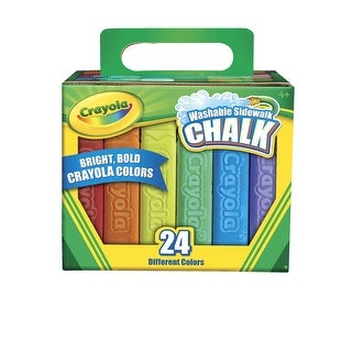 Crayola Washable Sidewalk Chalk, 4-1/8 x 3/4 Inches, Assorted Colors, Pack of 24